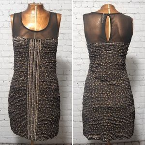 Free People Floral Bodycon Mini Dress EUC